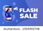 flash sale banner. illustration ...