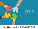 Teamwork Concept. Businessmen...