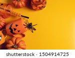 horror spooky funny ghost in... | Shutterstock . vector #1504914725