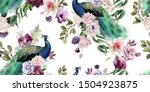 seamless floral pattern with... | Shutterstock . vector #1504923875