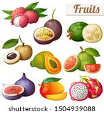 set of cartoon food icons.... | Shutterstock . vector #1504939088