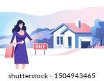 real estate concept. realtor... | Shutterstock .eps vector #1504943465