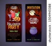 halloween disco cocktail party... | Shutterstock .eps vector #1504945388