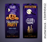 halloween disco party poster... | Shutterstock .eps vector #1504945412