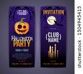 halloween disco party poster... | Shutterstock .eps vector #1504945415