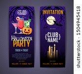halloween disco cocktail party... | Shutterstock .eps vector #1504945418