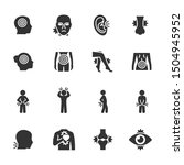 vector set of pain icons. | Shutterstock .eps vector #1504945952