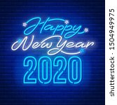 happy new year 2020 text... | Shutterstock .eps vector #1504949975