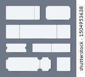 white ticket mockups. concert... | Shutterstock . vector #1504953638