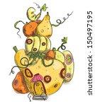 hand drawn illustration of... | Shutterstock .eps vector #150497195