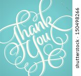 thank you hand lettering   ... | Shutterstock .eps vector #150498266