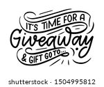 vintage card with giveaway... | Shutterstock .eps vector #1504995812