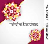 beautiful hindu rakhi card... | Shutterstock .eps vector #150501752
