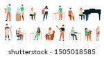 set of artists  men and women.... | Shutterstock .eps vector #1505018585