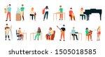set of artists  men and women.... | Shutterstock .eps vector #1505018585