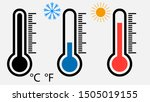 set of thermometers. vector... | Shutterstock .eps vector #1505019155