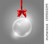 christmas toy. glass globe with ... | Shutterstock .eps vector #1505023295