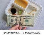 Hand Hold Dollar Money In...