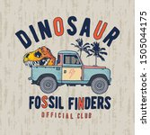 illustration of a dinosaur... | Shutterstock .eps vector #1505044175