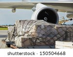 loading of cargo to the freight ... | Shutterstock . vector #150504668