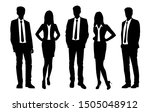 vector silhouettes of  men and... | Shutterstock .eps vector #1505048912
