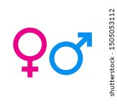 male and female symbol set .... | Shutterstock .eps vector #1505053112