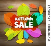 colorful vector autumn sale... | Shutterstock .eps vector #150505715