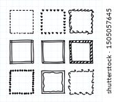 doodle frames set  vector... | Shutterstock .eps vector #1505057645