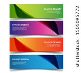 vector abstract design banner... | Shutterstock .eps vector #1505095772