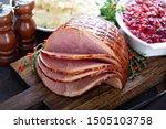 Holiday glazed ham for...
