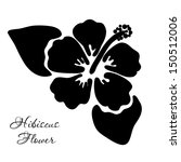 hibiscus flower in black and... | Shutterstock .eps vector #150512006