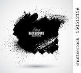 grunge splash banner | Shutterstock .eps vector #150512156