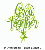 vector abstract  grow together...   Shutterstock .eps vector #1505128052