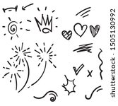vector hand drawn collection of ... | Shutterstock .eps vector #1505130992
