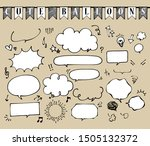 marker hand drawn style speech ...   Shutterstock .eps vector #1505132372