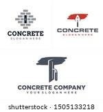 Concrete Logo Design With Brick ...