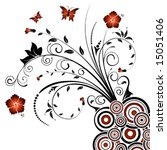 abstract floral chaos with... | Shutterstock .eps vector #15051406