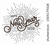 happy new year lettering with... | Shutterstock .eps vector #1505179328