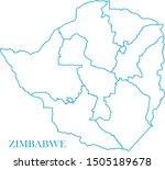 zimbabwe blue line map vector   Shutterstock .eps vector #1505189678