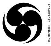 maori triple koru logo black...   Shutterstock .eps vector #1505209805