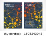 minimal brochure templates ... | Shutterstock .eps vector #1505243048