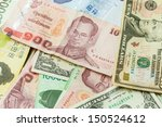 colorful old world paper money... | Shutterstock . vector #150524612