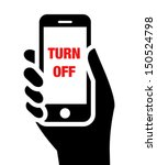 "mobile phone in hand with ""turn ... 