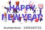 happy new year celebration...   Shutterstock .eps vector #1505265722