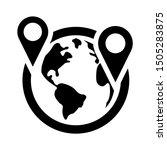 location international icon  ... | Shutterstock .eps vector #1505283875