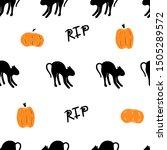 happy halloween pattern of... | Shutterstock .eps vector #1505289572