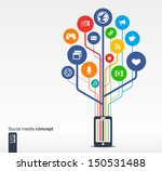 abstract background with mobile ... | Shutterstock .eps vector #150531488