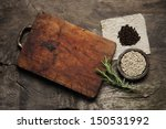 cutting board  rosemary and... | Shutterstock . vector #150531992