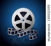film reel and twisted cinema... | Shutterstock .eps vector #150532355