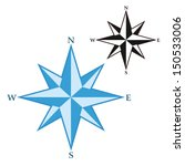 wind rose   compass star | Shutterstock .eps vector #150533006